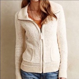 Anthropologie sleeping in snow cardigan sweater ca